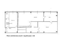 planimetria magazzino + laboratorio + ufficio 220 mq in affitto a Milano via Fantoli zona Mecenate