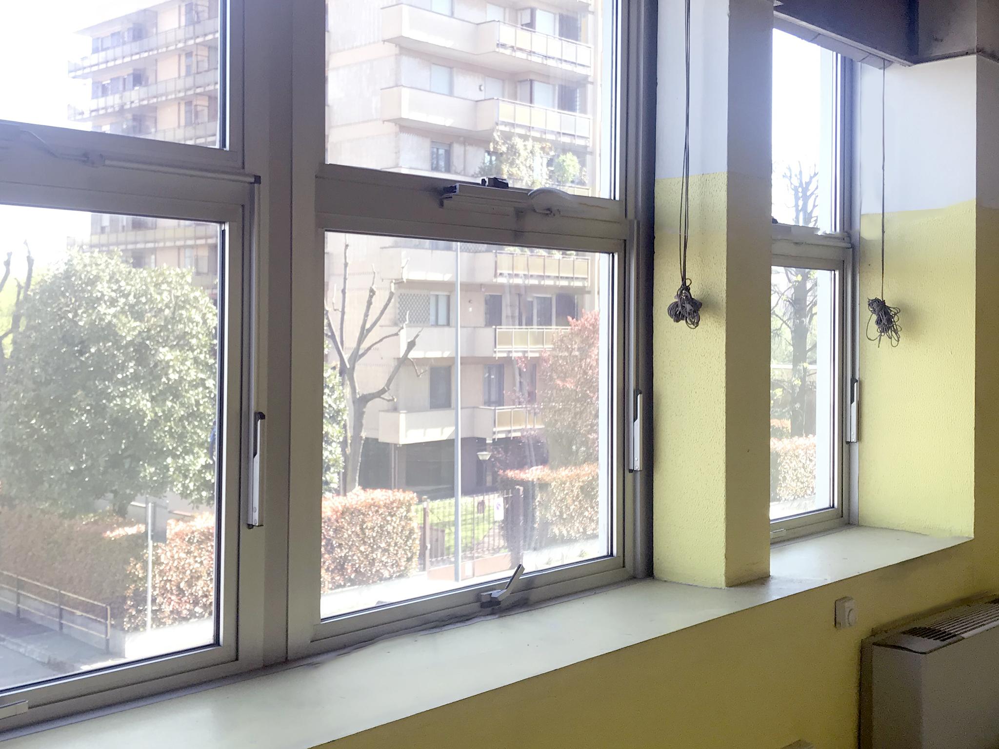 Office windows on Via Fantoli