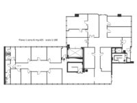 Floorplan office to rent in Milan c/o Atlantic Business Center 425 m² (4575 ft²) first floor