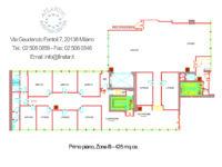Nuova planimetria ufficio 425mq primo piano Atlantic con open space