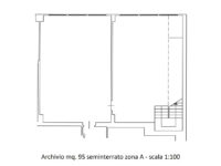 Planimetria archivio 95 mq in affitto a Milano via Fantoli zona Mecenate