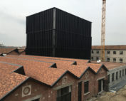 Gucci Hub under construction in 2016 in Via Mecenate 79, next to the Atlantic Business Center