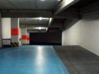 Access ramp from the first basement floor to the second basement floor of the garage - Atlantic Business Center - Milan