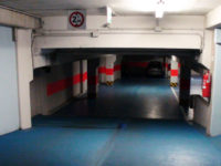 Access ramp from the courtyard to the garage at first basement floor - Atlantic Business Center - Milan