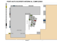 Floorplan of outdoor parking spaces inside the Atlantic Business Center