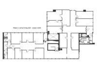 Planimetria ufficio in affitto 425 mq Atlantic Business Center
