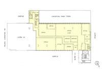 Planimetria ufficio 750 mq in affitto a Milano via Fantoli 7 zona Mecenate