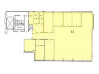 Planimetria ufficio in affitto 305 mq secondo piano, via Fantoli 7 zona Mecenate CAMM Linate