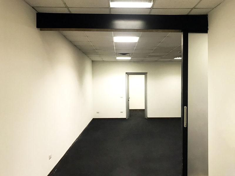 Sliding door to open space