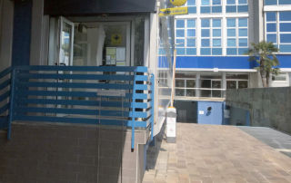 Poste Italiane - postal office MILANO 62 - entrance