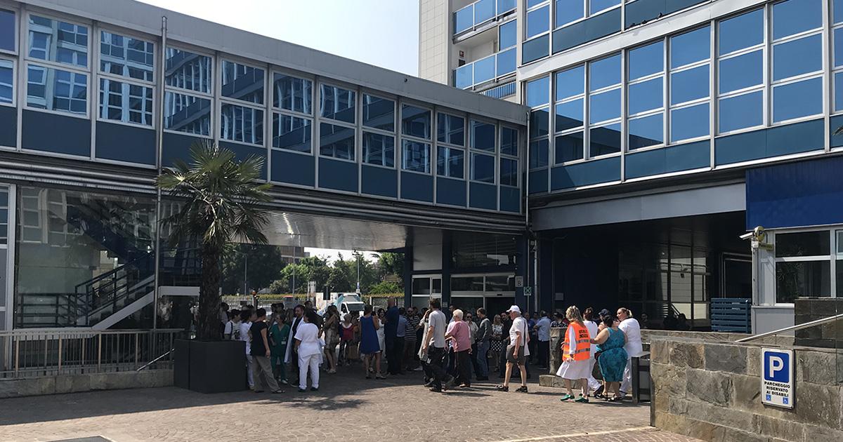 Simulazione di evacuazione per emergenza in Atlantic Business Center