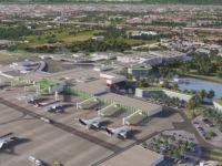 Rendering del progetto generale di restyling dell'aeroporto di Milano Linate per il 2030