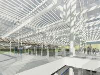 Rendering della nuova stazione metropolitana M4 di Milano Linate