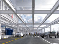 Rendering del nuovo accesso partenze dell'aeroporto di Linate