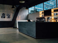 cafe bar in Atlantic Business Center Milan