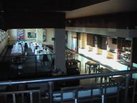 panoramic view of mezzanine tables - cafe restaurant pizzeria for rent in Atlantic Business Center Milan