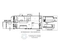 cafe restaurant pizzeria club 880 sq m in Milan - floorplan