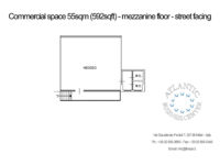 Store / Office for rent in Milan - 55 sq m (592 sq ft) floorplan