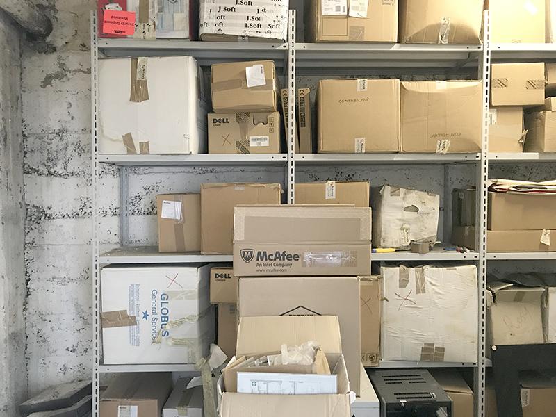 Archivio in affitto 12 mq seminterrato - Atlantic Business Center